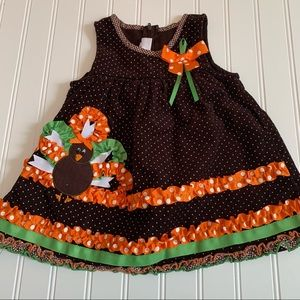 Iris & Ivy adorable 🦃 dress. Size 12 months GUC
